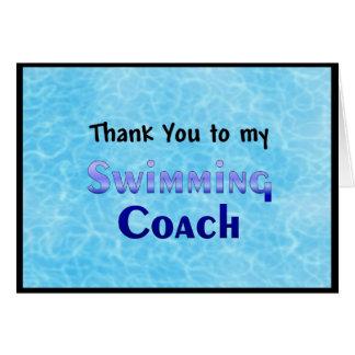 Danke zu meinem Schwimmen-Trainer Karte