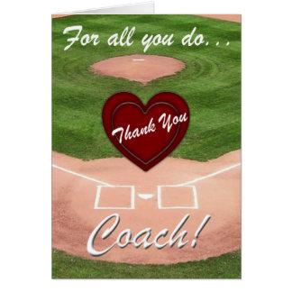 Danke zu trainieren! - Baseball Grußkarte