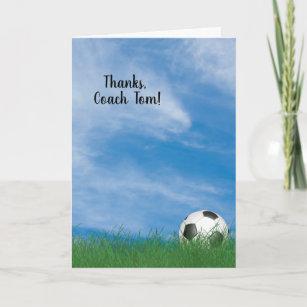 An den fußballtrainer danke Geschenke für