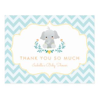 Danken niedliche Baby-Dusche des Postkarte