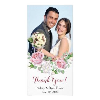 Danken rosa Rosen-Hochzeit Burgunders Ihnen Karte