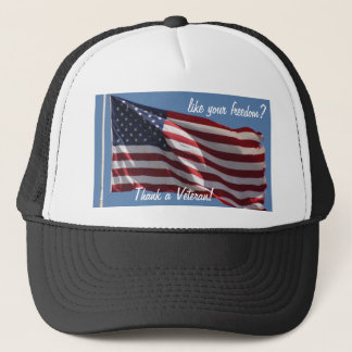 Danken Sie einem Veteran! Truckerkappe