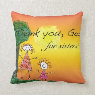 Danken Sie Gott für Schwestern - Kissen