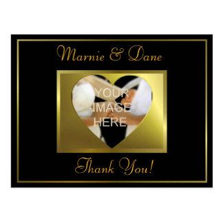 Danken Sie Ihrer Postcard| goldenen schwarzen Postkarte