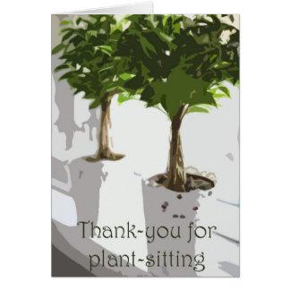 Dankes- für das Pflanze-Sitzen Karte