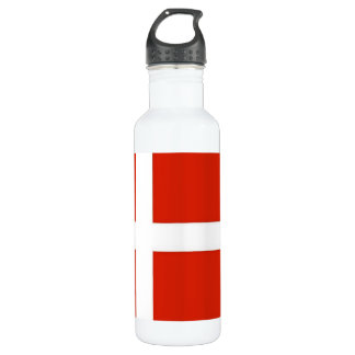 Dannebrog; Die offizielle Flagge von Dänemark Edelstahlflasche