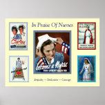 Dans l'éloge de l'infirmière vintage de ~ d'infirm posters