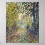 Dans les bois par Pierre-Auguste Renoir Affiche