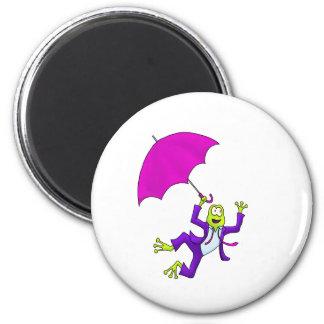 Danse dans la grenouille de pluie magnet rond 8 cm