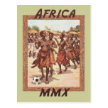 Danse tribale du football des femmes africaines de carte postale