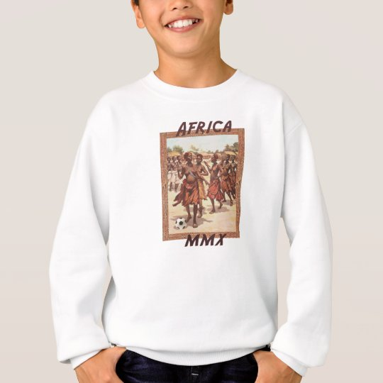Danse tribale du football des femmes africaines de sweatshirt