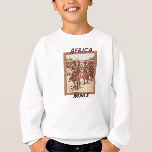 Danse tribale du football des femmes africaines de t-shirt