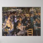 Dansez à la La Galette de Le Moulin de par Renoir Poster