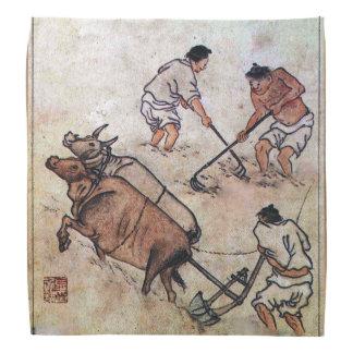 Danwon Nongali koreanisches Reis-Feldpflügen Halstücher