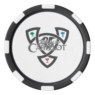 DAoC Knoten-Lehm-Poker-Chips, schwarzer Pokerchips