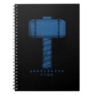 DAoC Midgard Hammer und Klassen-Emblem-Notizbuch Spiral Notizblock