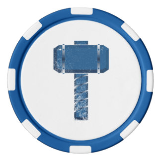 DAoC Midgard Lehm-Poker-Chips, blauer gestreifter Poker Chips