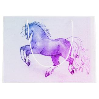 Dappled Pony-großes Geschenk-Taschen-Glanz-Ende Große Geschenktüte