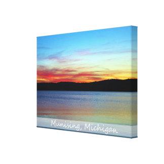 Dargestellter Felsen-Sonnenaufgang/eingewickelte Leinwanddruck
