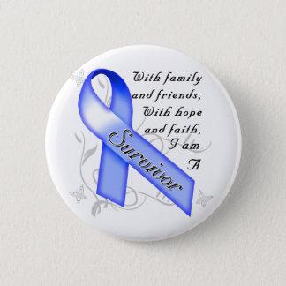 Darmkrebs-Überlebender Runder Button 5,7 Cm