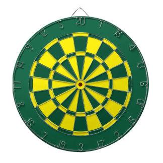 Dartscheibe: Gelb, grün und dunkelgrün Dartscheiben
