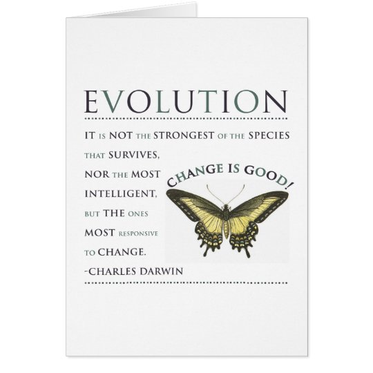 Darwin-Zitat-Evolution Karte