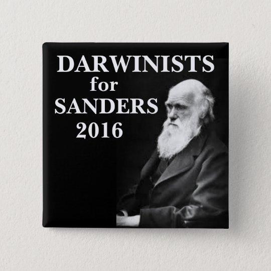 Darwinists für Sandpapierschleifmaschinen Quadratischer Button 5,1 Cm