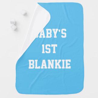 Das 1. (erste) Blankie des Babys, blaue Decke Baby-Decken