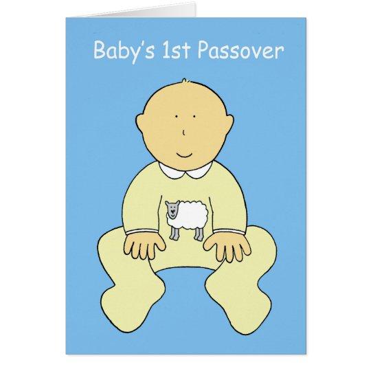 Das 1. Passahfest des Babys Grußkarte