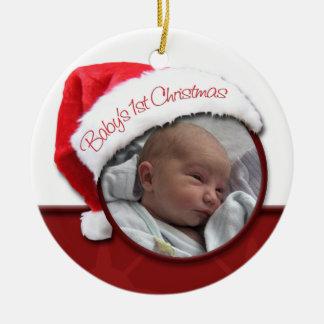 Das 1. Weihnachten des Babys - Rundes Keramik Ornament