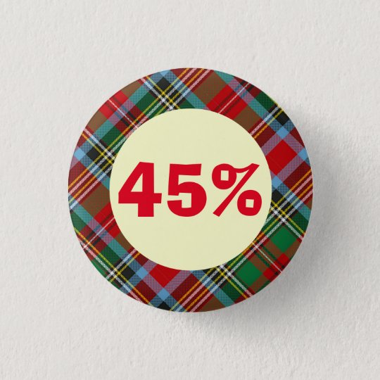 Das 45 Tartan-schottische Runder Button 3,2 Cm