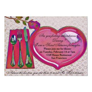 Das Abendessen-Einladung des geheimen Karte