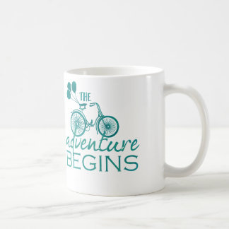 Das Abenteuer fängt Tassenschale an Kaffeetasse