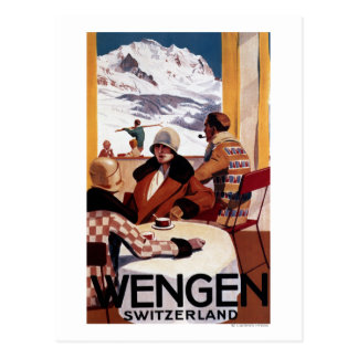 Das abschüssiger Verein-fördernde Plakat Postkarte