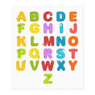 Das Alphabet der Kinder Leinwanddruck