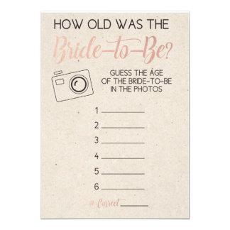 Das Alter der Brautparty-Spiel-Vermutungs-Braut Karte