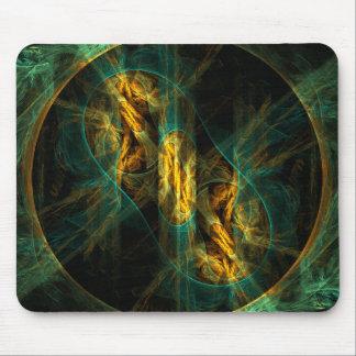 Das Auge der Dschungel-abstrakten Kunst Mousepad