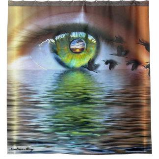 Das Auge des Beschauers Duschvorhang