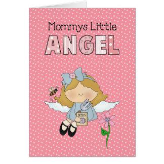 Das Baby-kleines Mädchen-der Mama des Karte