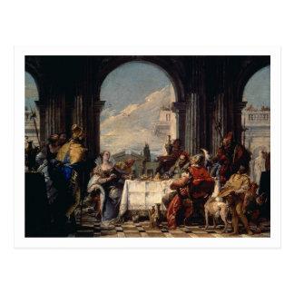 Das Bankett von Anthony und von Kleopatra, c.1744 Postkarte