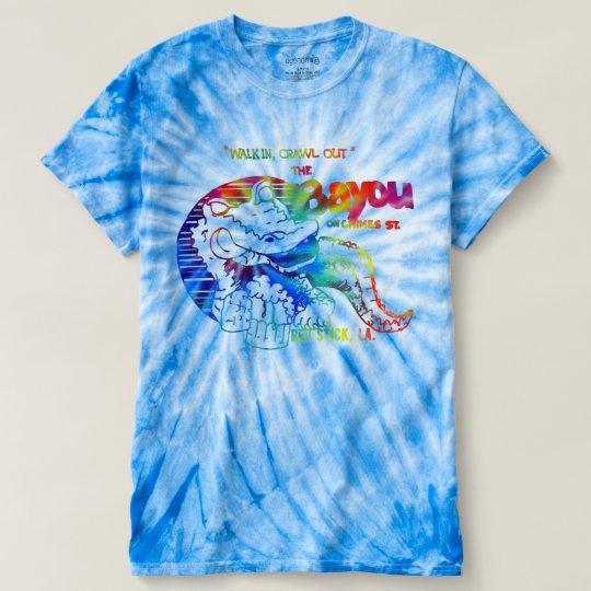 Das Bayou - Vintages Entwurfs-Krawatten-Blau-Shirt T-shirt