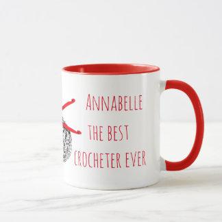 Das beste crocheter überhaupt mit Ihrem Namen Tasse