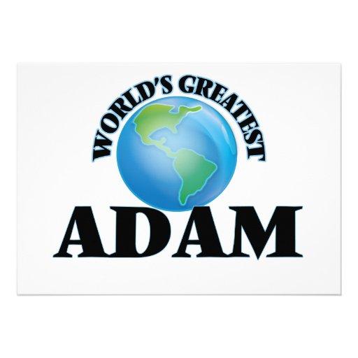 Das bestste Adam der Welt Einladungskarten