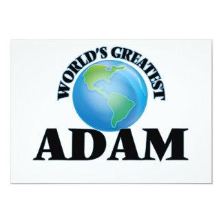 Das bestste Adam der Welt 12,7 X 17,8 Cm Einladungskarte