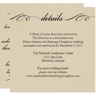 Das bestste von diesen ist Liebe-Wedding Quadratische 13,3 Cm Einladungskarte