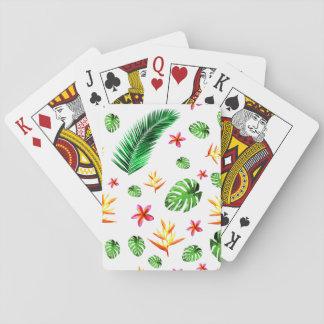 Das Blatt-Blumen-Wohngestaltung der Frauen Trendy Spielkarten