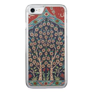 Das blaue und rote Türkische deckt BAUM DES LEBENS Carved iPhone 8/7 Hülle