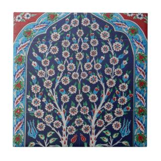 Das blaue und rote Türkische deckt BAUM DES LEBENS Keramikfliese