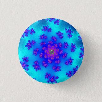 Das Blumen Aqua besprüht kleinen runden Knopf Runder Button 3,2 Cm