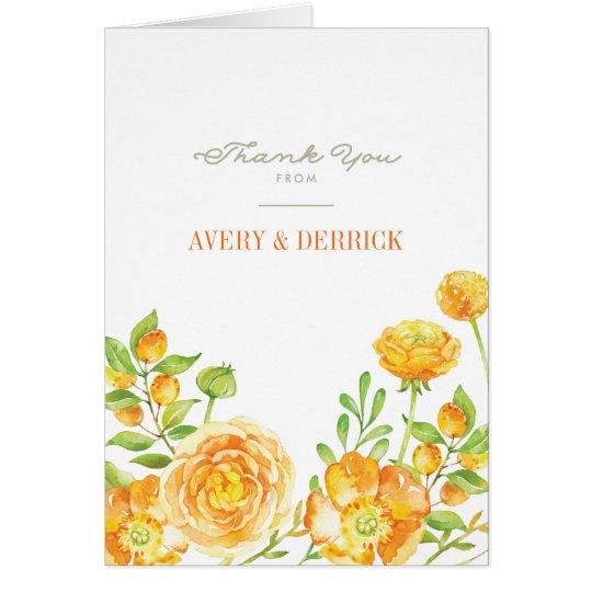 Das Blumen Sommer-Spritzen danken Ihnen Karten
